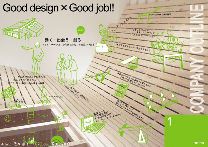 Good design × Good job!!